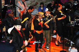 "Me, lower left, with my Barone Vintage tenor, and Barone Hollywood mouthpiece, Rico ""H"" ligature."